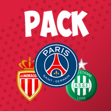 PACK 3 MATCHS PSG